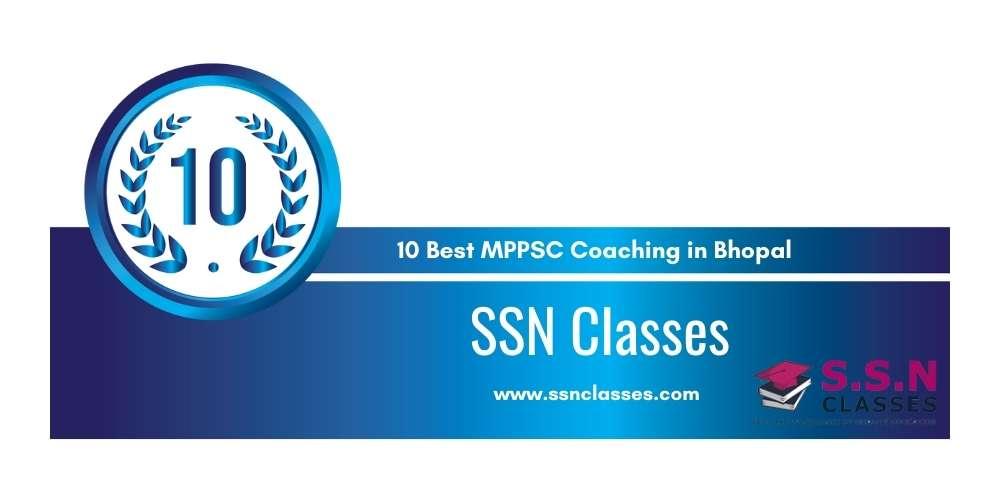 SSN Classes Bhopal at Rank 10