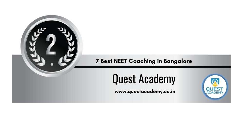 Rank 2 in 7 Best NEET Coaching in Bangalore