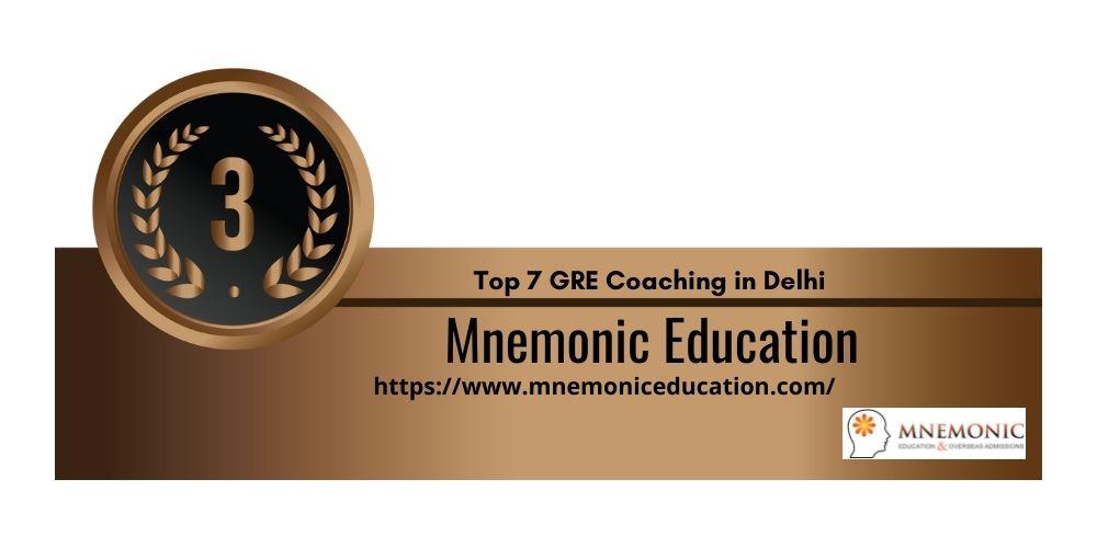 Rank 3 GRE Coaching in Delhi