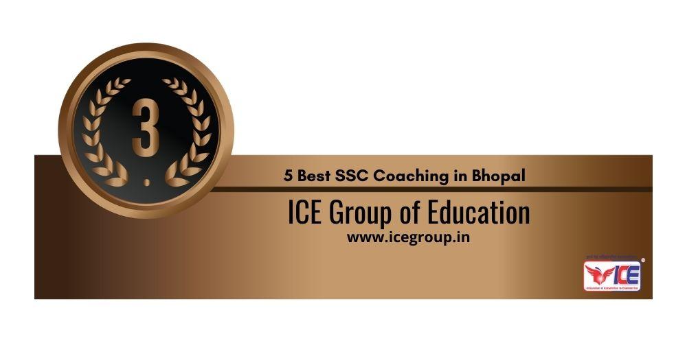 Rank 3 SSC Bhopal