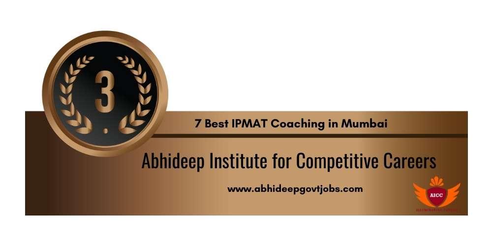 Rank 3 in 7 Best IPMAT Coaching in Mumbai
