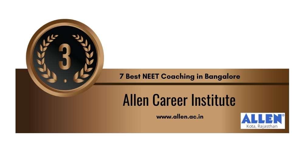 Allen Career Institute Bangalore at Rank 3