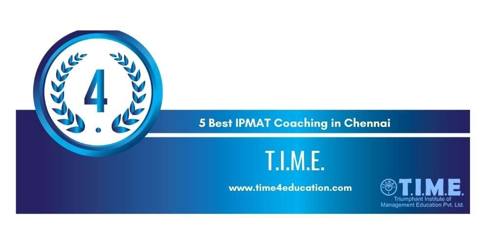 Rank 4 in 5 Best IPMAT Coaching in Chennai