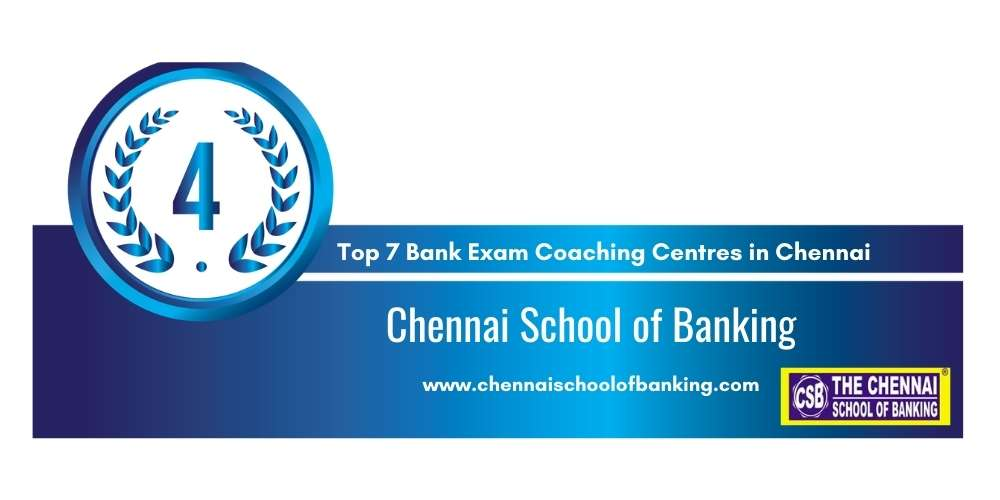 Rank 4 in Top 7 Bank Exam Coaching Centres in Chennai