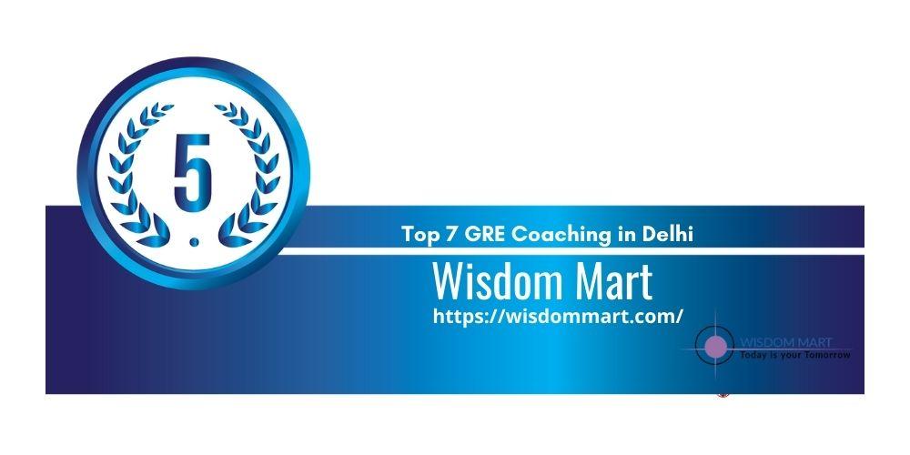 Rank 5 GRE Coaching in Delhi