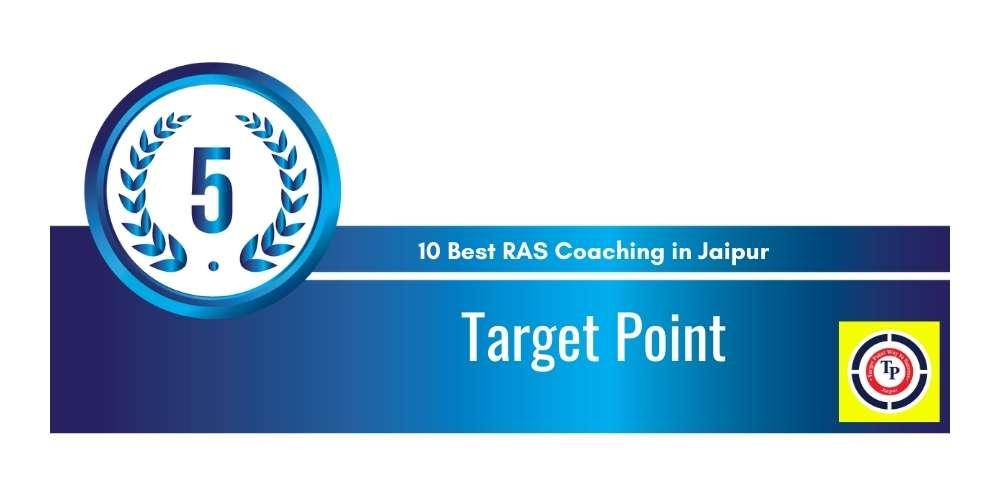 Rank 5 in 10 Best RAS Coaching in Jaipur