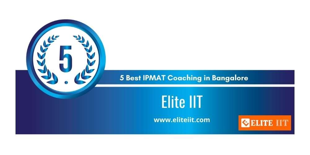 Elite IIT Bangalore at Rank 5