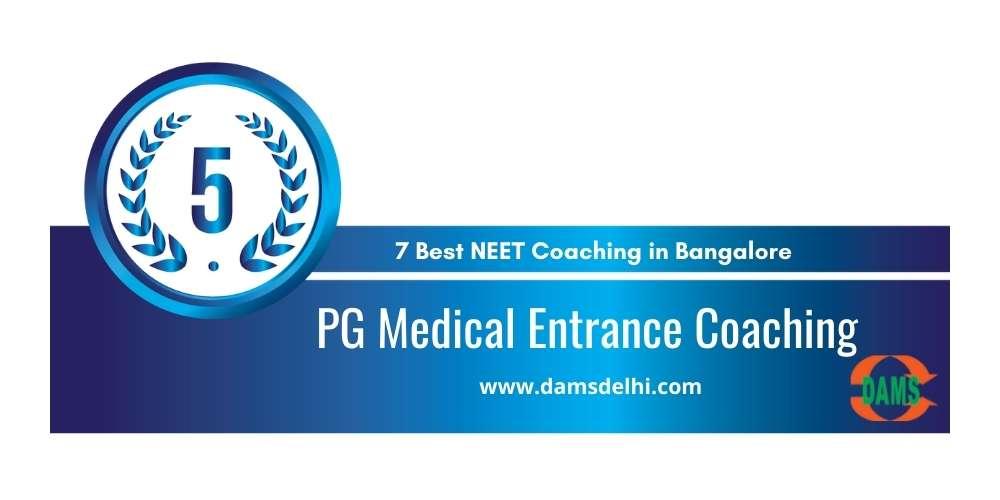 PG Medical Entrance Coaching Bangalore at Rank 5