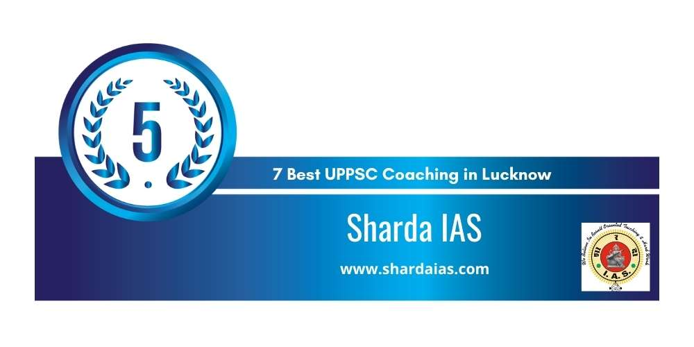 Sharda IAS Lucknow at Rank 5