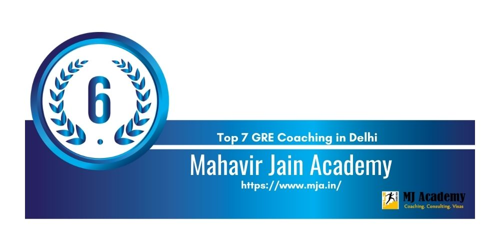 Rank 6 GRE Coaching in Delhi