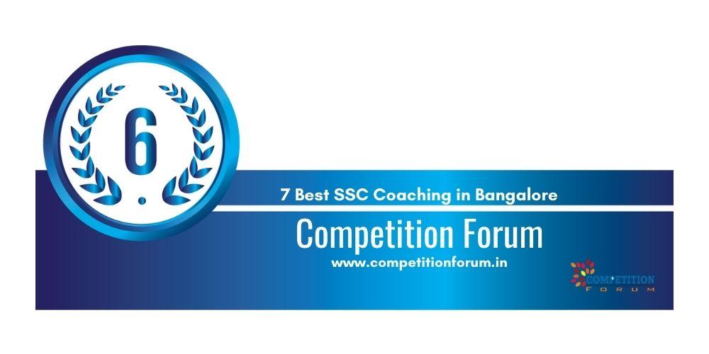 Rank 6 SSC Coaching in Bangalore