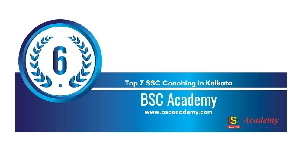 Rank 6 SSC Coaching in Kolkata