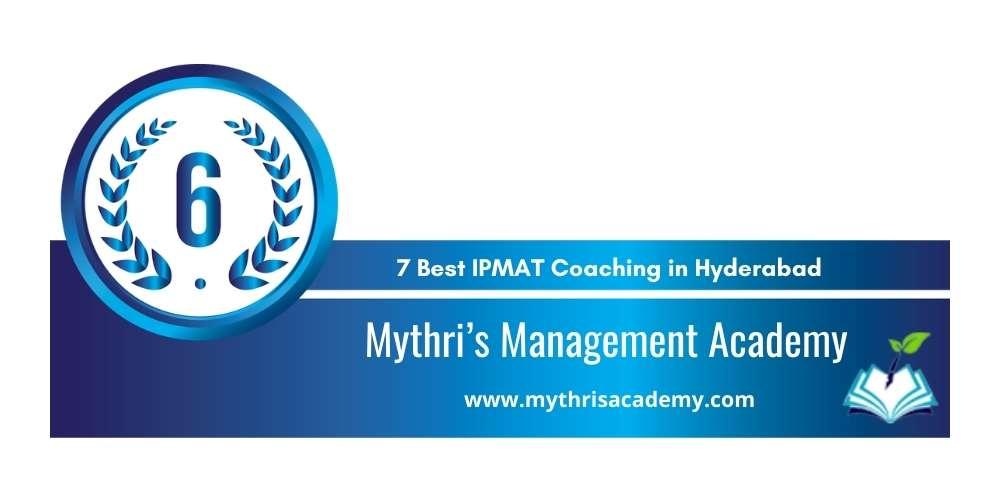 Mythri's Management Academy Hyderabad at Rank 6