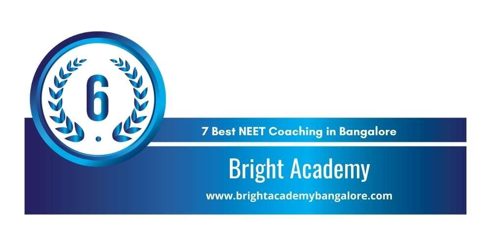 Bright Academy Bangalore at Rank 6