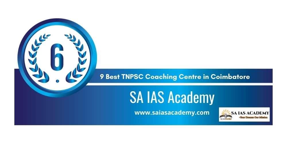 Rank 6 in 9 Best TNPSC Coaching Centre in Coimbatore