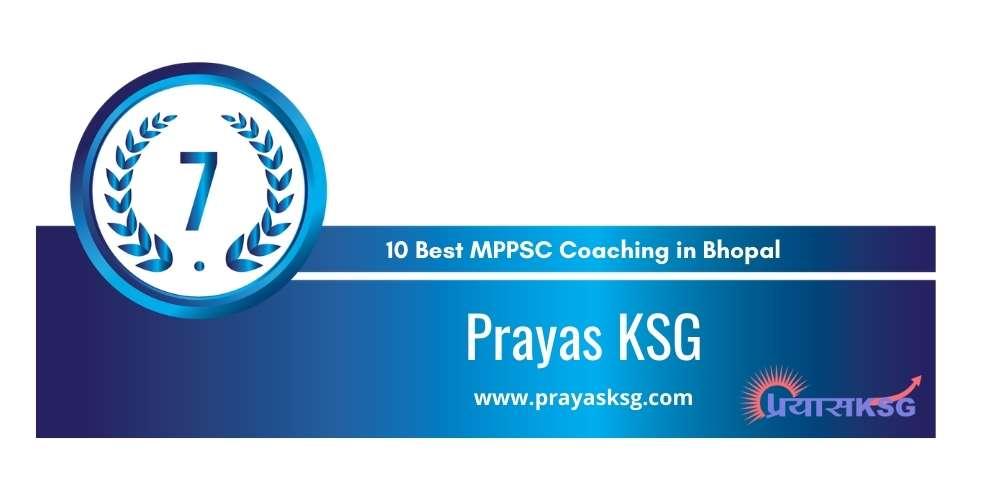 Prayag KSG Bhopal at Rank 7