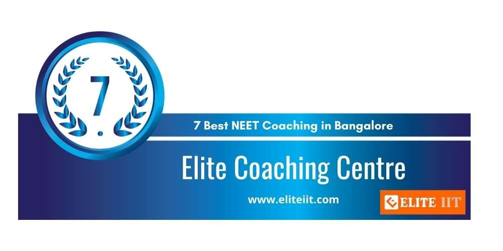 Elite Coaching Centre Bangalore at Rank 7