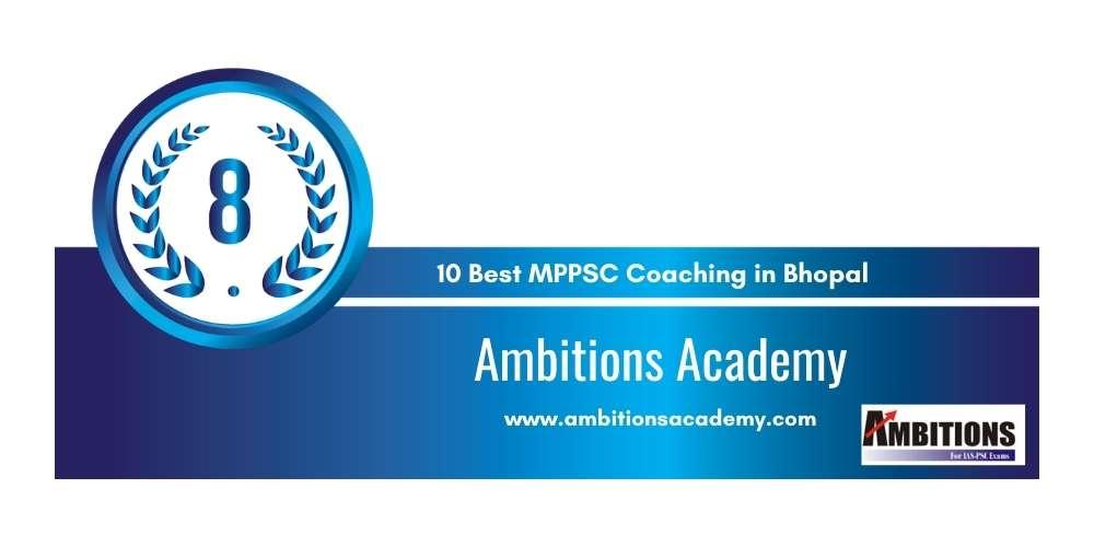 Ambitions Academy Bhopal at Rank 8
