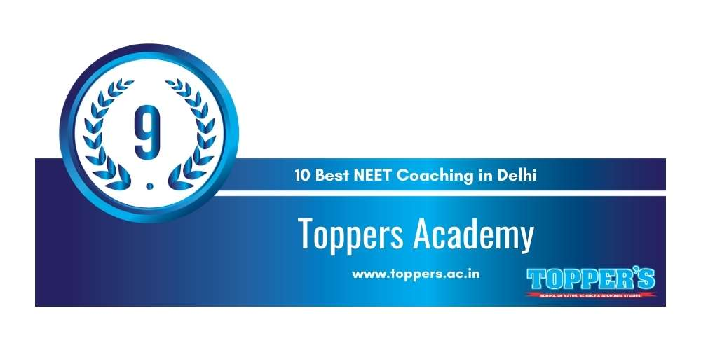Toppers Academy Delhi at Rank 9