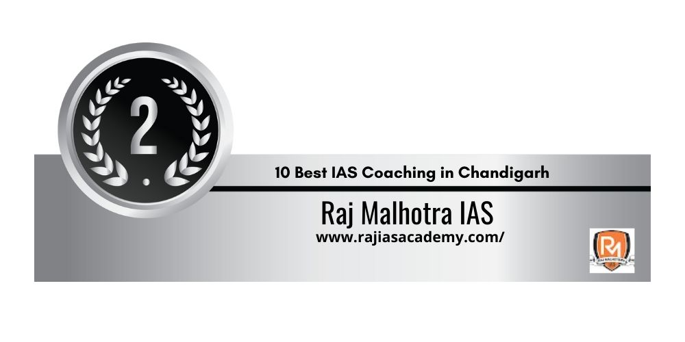 Rank 2 One of the Best IAS coaching in chandigarh