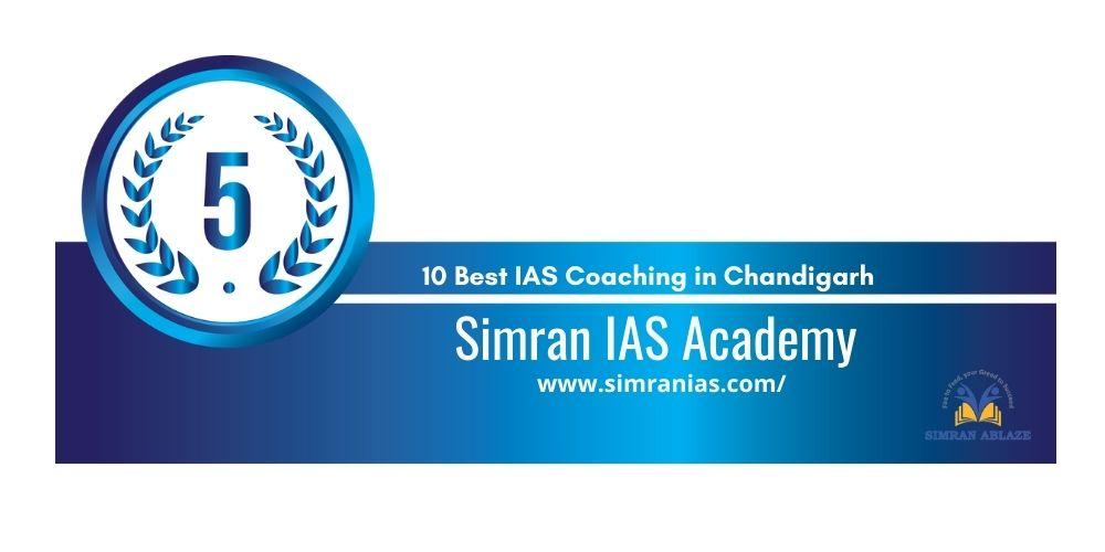 Rank 5 IAS coaching in chandigarh