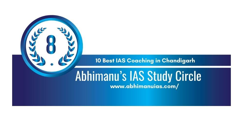 Rank 8 UPSC coaching in Chandigarh